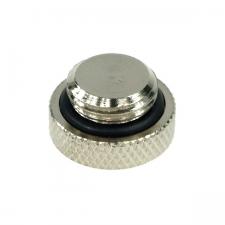 Capac - Phobya screw-in seal cap G1/4 Inch - knurled high profile - silver (68126)