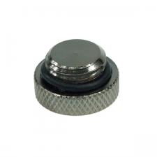 Capac - Phobya screw-in seal cap G1/4 Inch - knurled high profile - black nickel (68127)