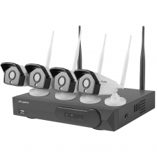 Kit supraveghere video Lanberg 4 camere 1.3MP + NVR WiFi 4 canale (ICS-0404-0013)